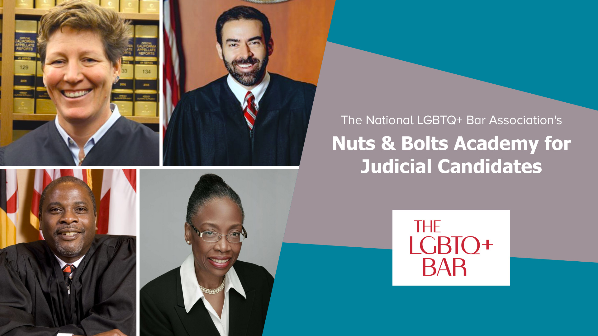 """The LGBTQ+ Bar's """"Nuts & Bolts Academy for Judicial Candidates"""""""